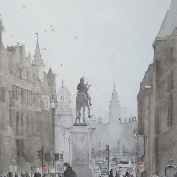 charles statue and whitehall
