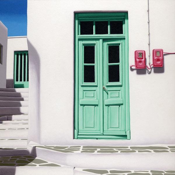 door 17 two pink meters