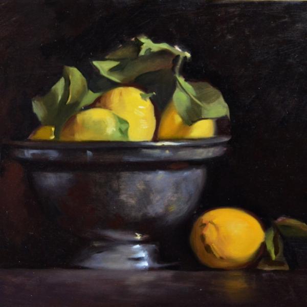 Lemons in bowl