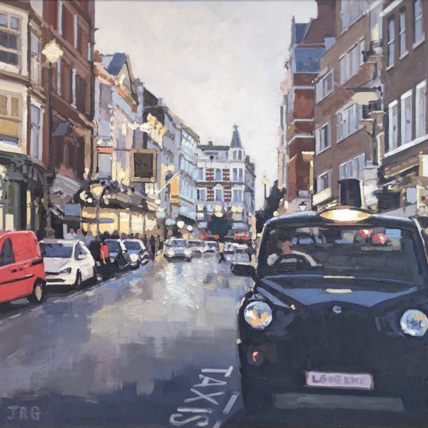 Taxi, St Martin's Lane, Covent Garden