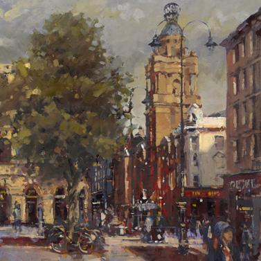 St Martin's Lane from Trafalgar Square - John Walsom
