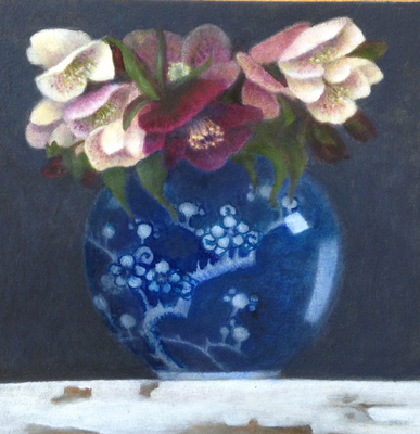 Ginger Jar and Hellebores