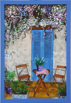 B&B door in Provence