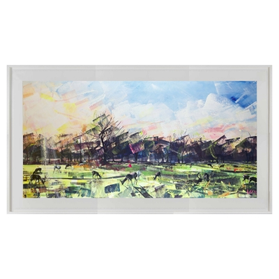Deer Panoramic 114cm x 64cm limited edition print