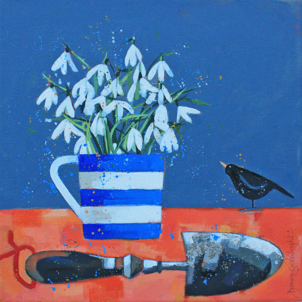Snowdrops and Blackbird