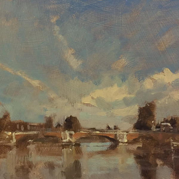 Early morning Hampton Court Bridge