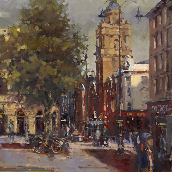 St Martins Lane from Trafalgar Square
