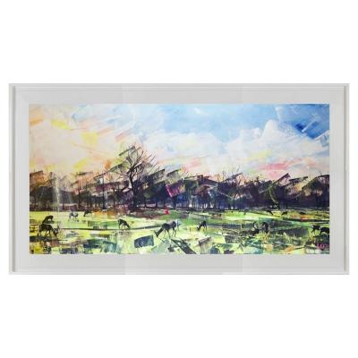 Deer Panoramic 114cm x 64cm limited edition print